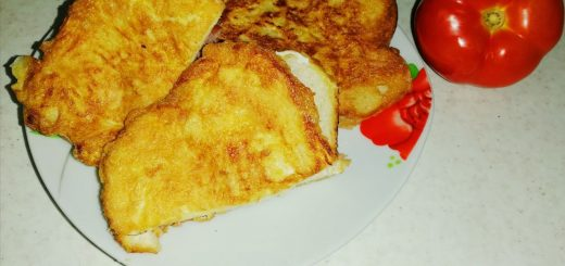 sandvis in ou, mic dejun