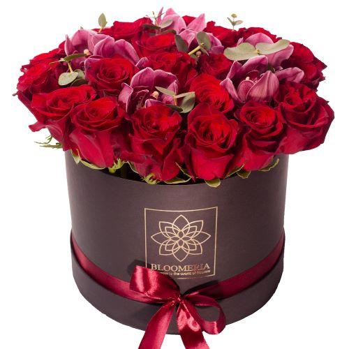 flori in cutie. buchet ieftin floricutie