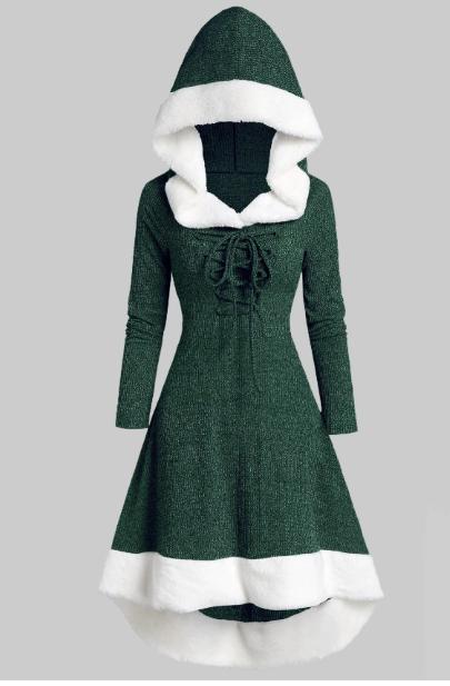 rochie verde iarna