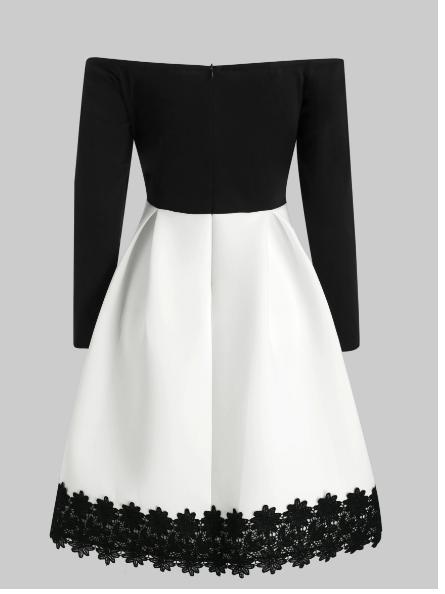 rochie botez,,rochie alb negru,rochie simpla,rochii petreceri