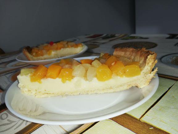 tarta cu fructe, tarta cu vanilie,