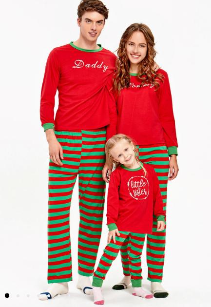 pijamale rosii pentru craciun