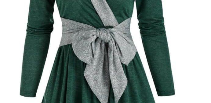 rochii cu maneci, rochie iarna,rochii verzi