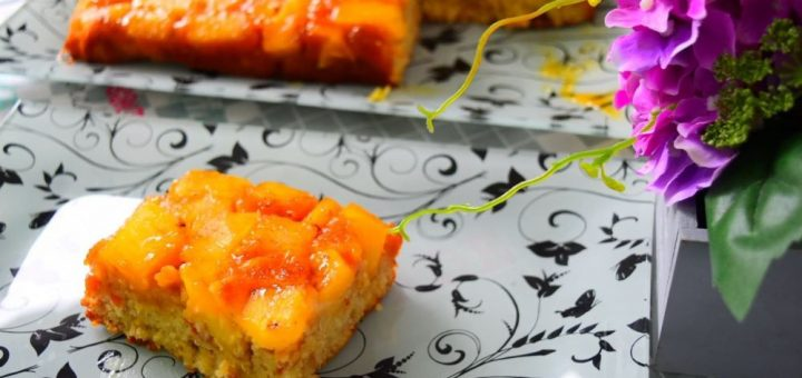 prăjitura cu ananas si caramel