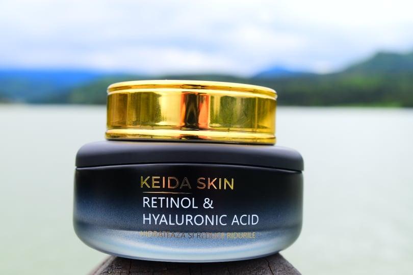 Despre crema cu retinol și acid hialuroic de la KEIDA SKIN